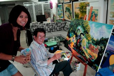 Oil Paintings with Artist I Artisan Malaysia